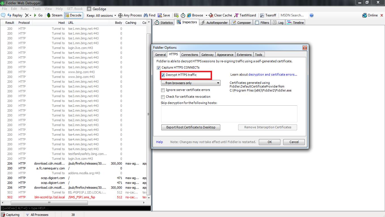 Decrypting HTTPS (SSL/TLS) Tunnels Using Fiddler « The Tech L33T