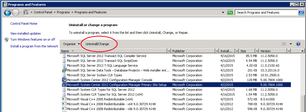 "SCCM 2012 ""Perform site maintenance or reset this site"