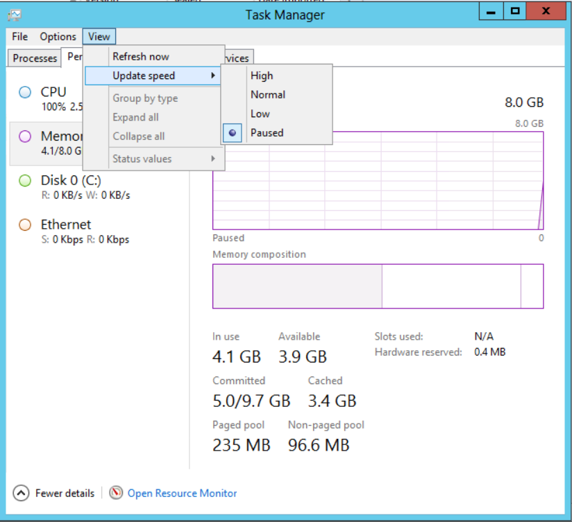 Task Manager Freezes on Windows 8/Server 2012 « The Tech L33T