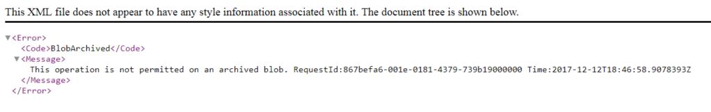 Configure Azure Blob Archive Storage « The Tech L33T
